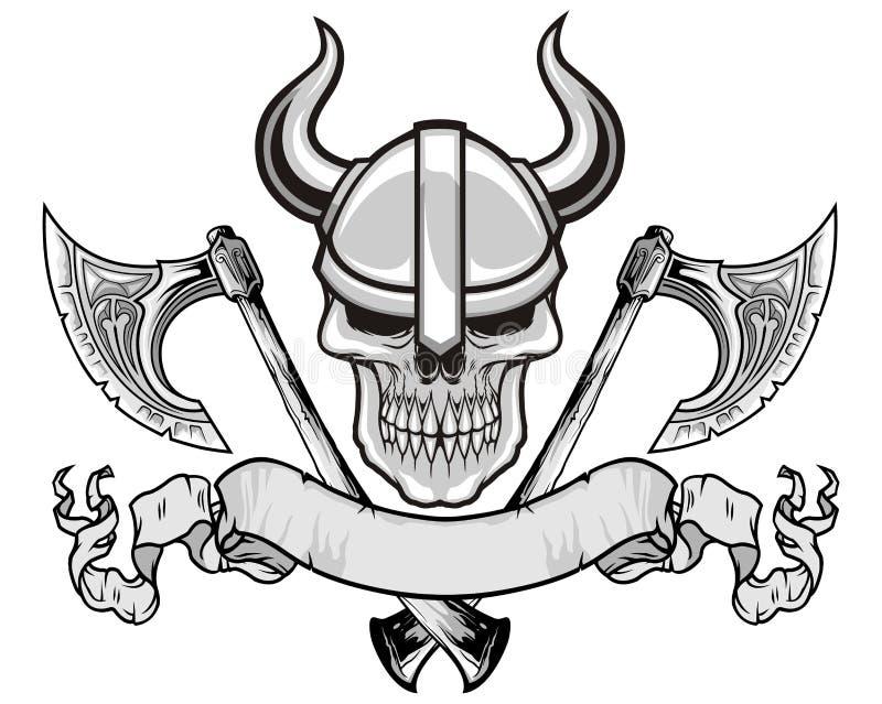 Viking czaszka ilustracja wektor