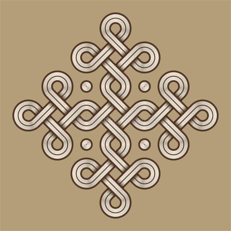 Viking Decorative Knot - graviert - Ring Cross lizenzfreie abbildung