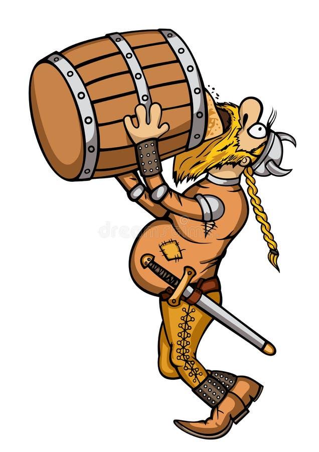 Viking Drunk stock abbildung