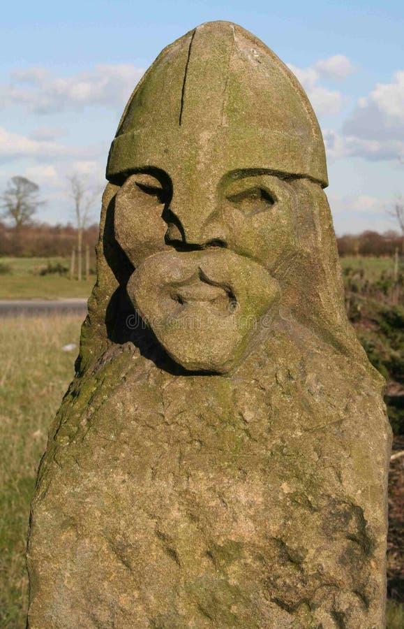 Viking en pierre. photos stock