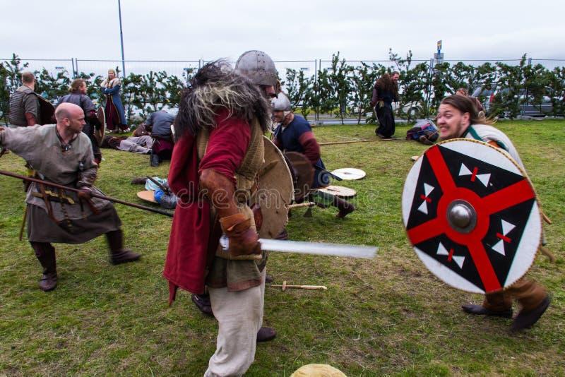 Viking Festival 2014 foto de stock royalty free