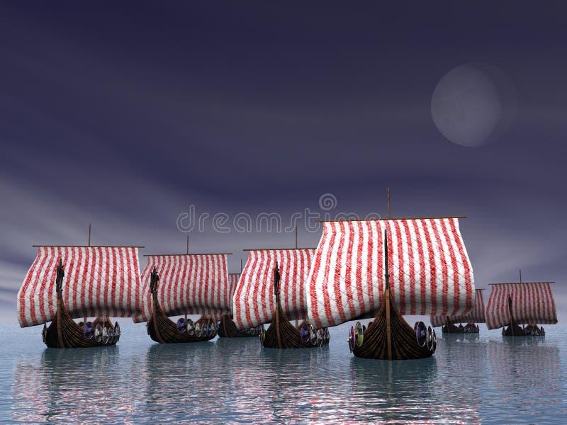 Viking Fleet stock photography