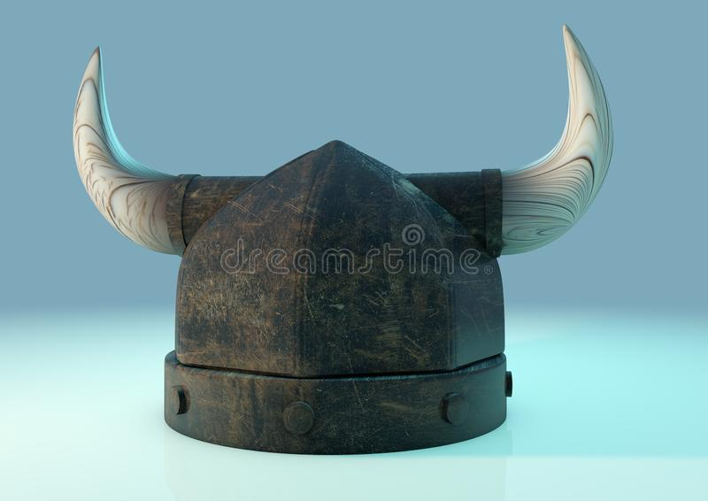 Viking hełm trzy ćwiartki ilustracji