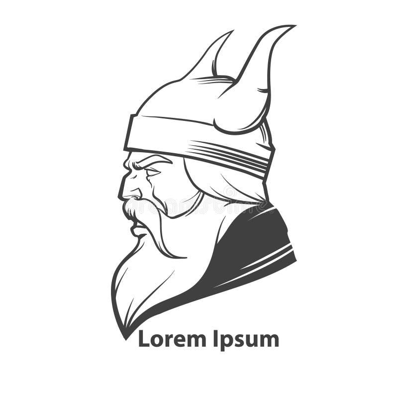 Viking head3 vector illustration