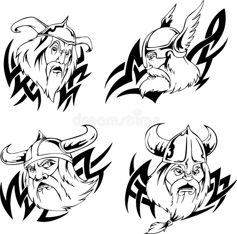 Viking Heads Royalty Free Stock Images