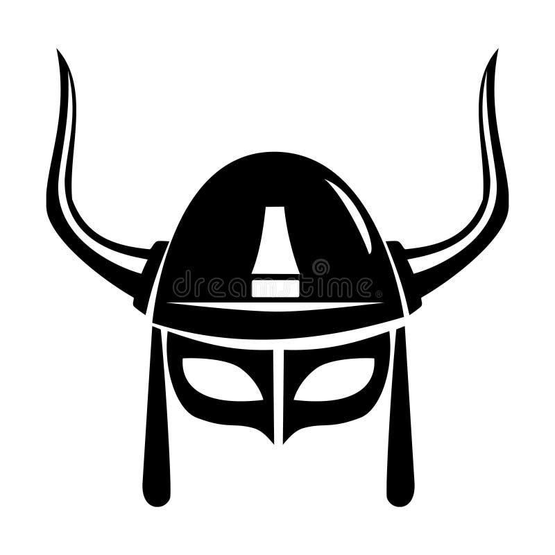 Viking helmet vector illustration