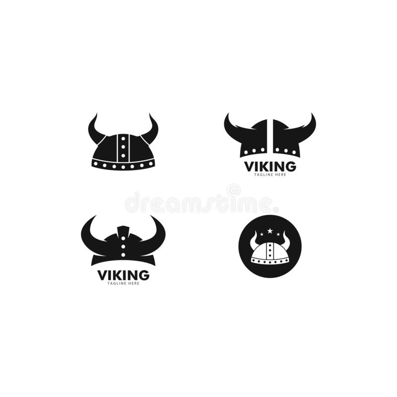 Free Viking Helmet Logo Vector Icon Template Stock Photos - 175915353