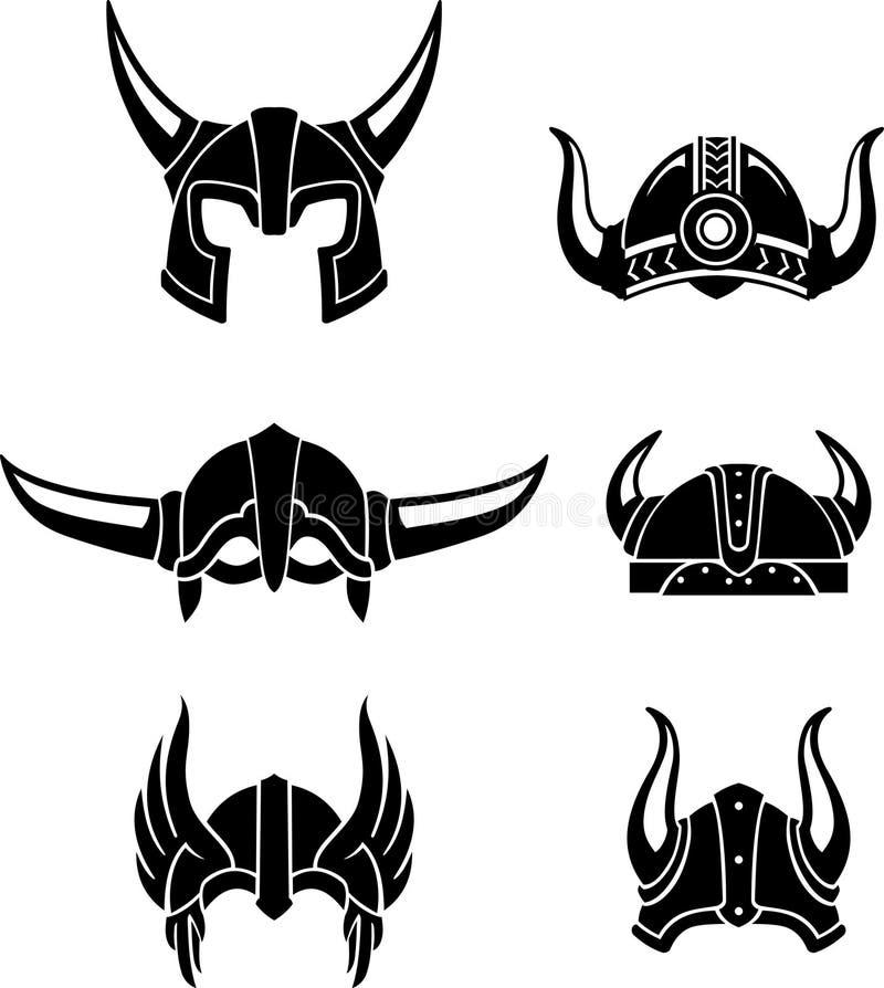 Viking Helmet Set illustration libre de droits