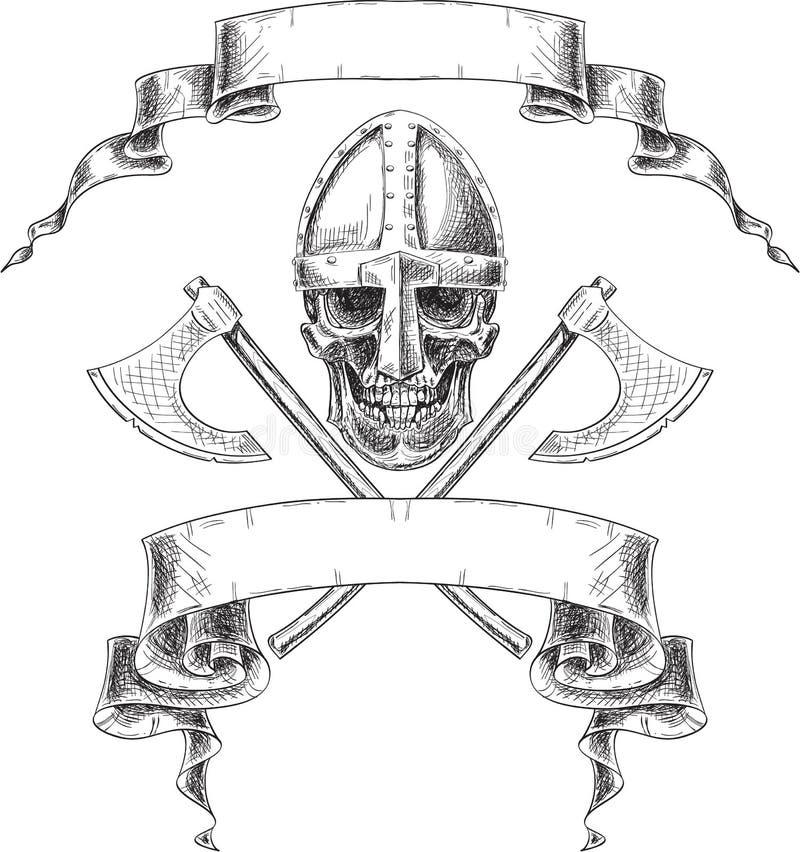 Viking heraldik stock illustrationer