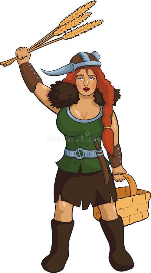 Viking Herbalist ilustração do vetor