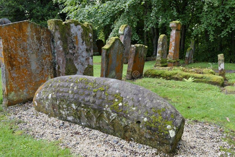 Viking Hogback Stone stock images