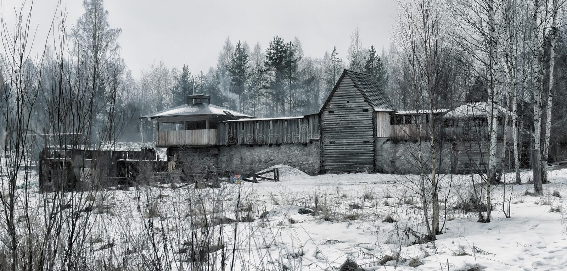 Viking House fotografia stock libera da diritti