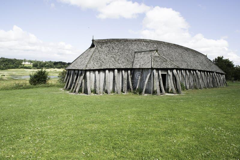 VIKING HOUSE. Old viking house in Denmark royalty free stock photos