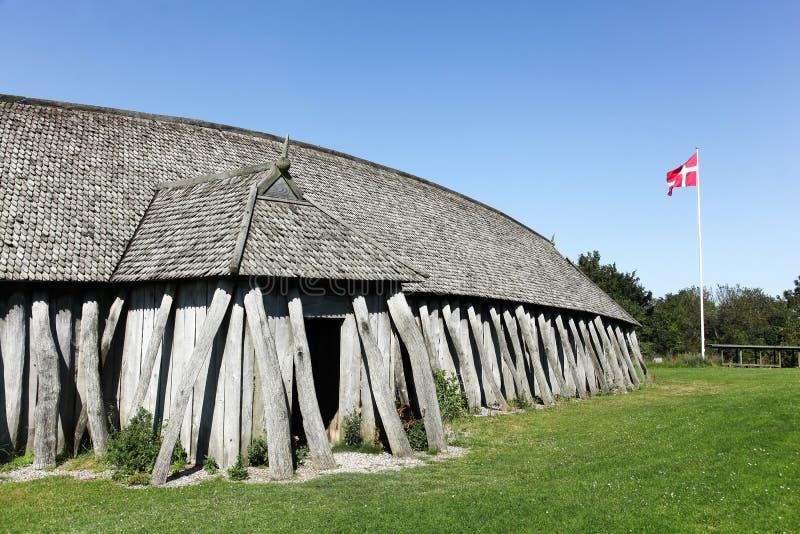 Viking-huizen in Hobro, Denemarken royalty-vrije stock afbeeldingen