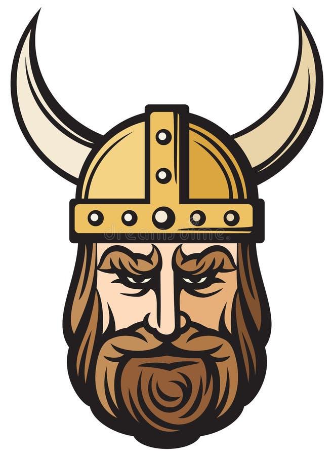 Viking huvud royaltyfri illustrationer