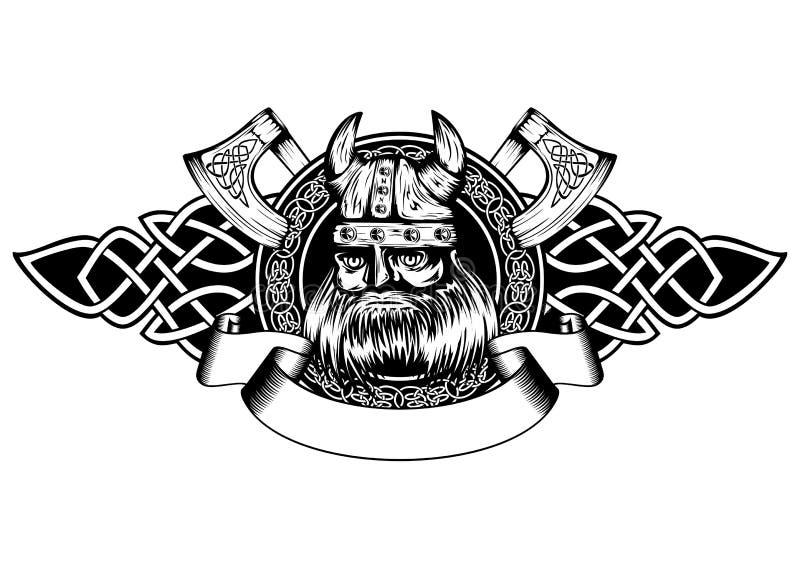 Viking i ram stock illustrationer