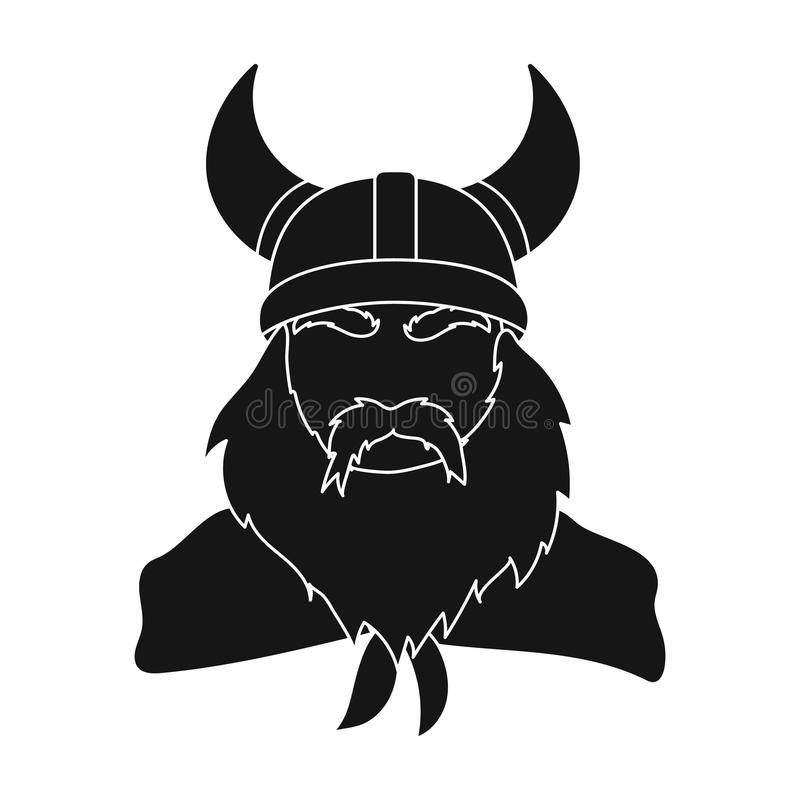 Download viking icon in black style isolated on white background vikings symbol stock vector illustration