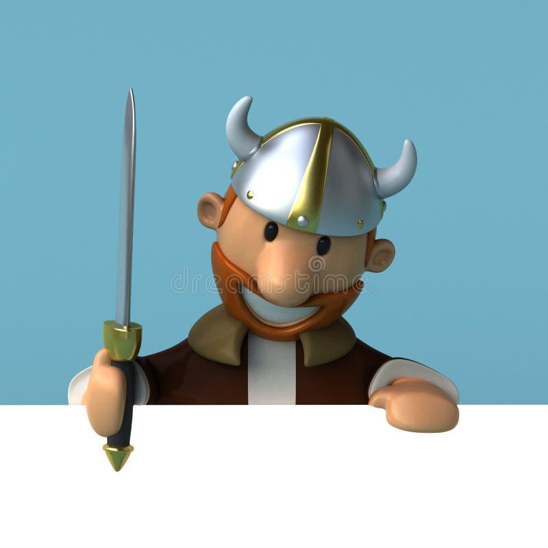 Viking - ilustração 3D ilustração do vetor