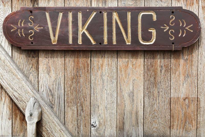 Viking inskrypcja na drzwi zdjęcie royalty free