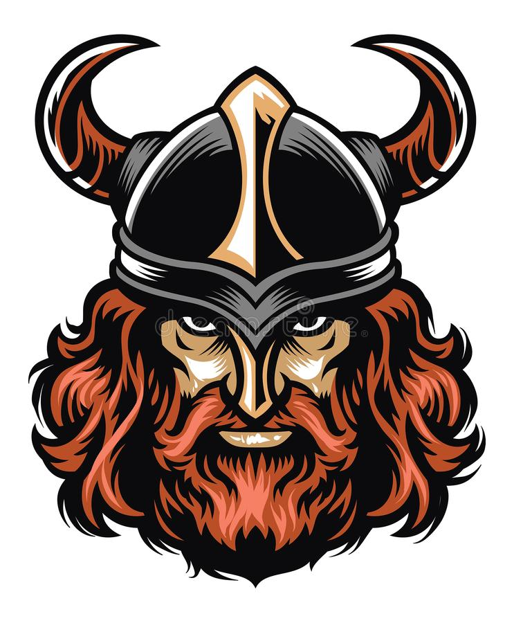 Viking krigarehuvud vektor illustrationer