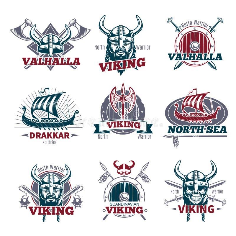 Viking Labels Set colorido libre illustration