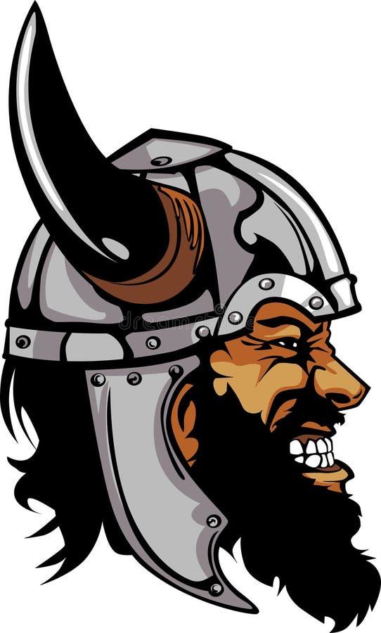 Viking/logo barbare de mascotte illustration libre de droits