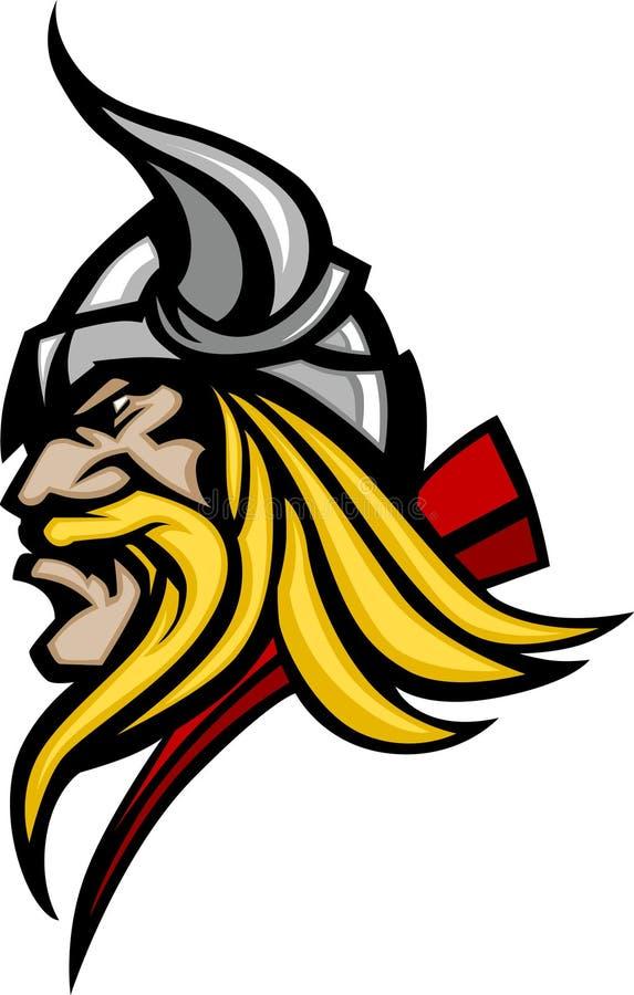 Viking/logo barbare de mascotte illustration de vecteur