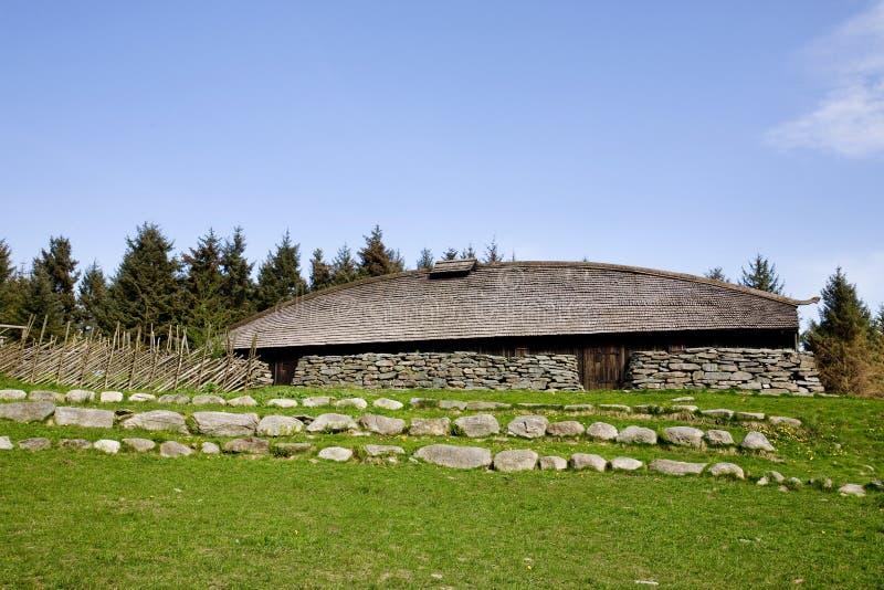 Viking Longhouse stock fotografie