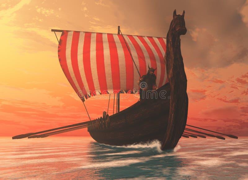 Viking Man e Longship