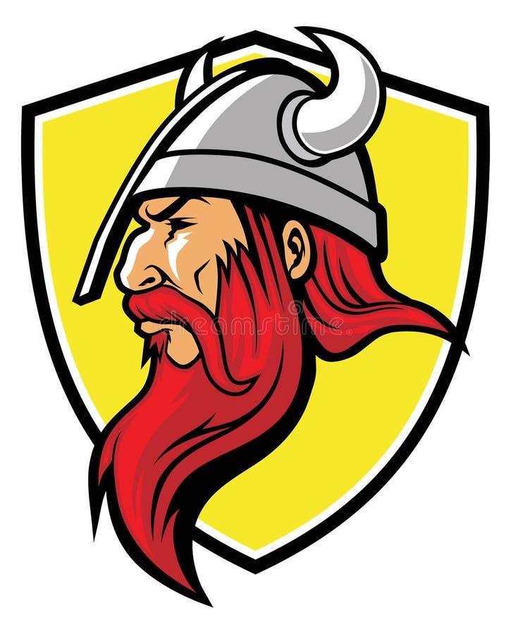 Viking maskotka royalty ilustracja