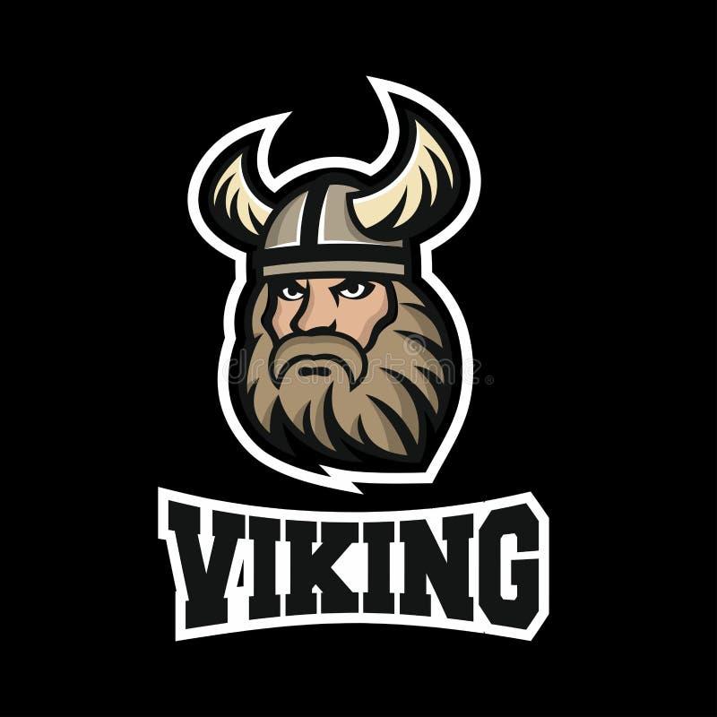 Viking-Maskottchenlogo Auch im corel abgehobenen Betrag vektor abbildung