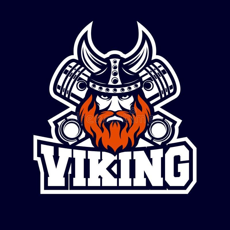 Viking moderno e logo diesel illustrazione di stock