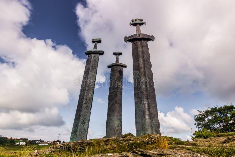 Viking Monument, Norvegia fotografia stock libera da diritti
