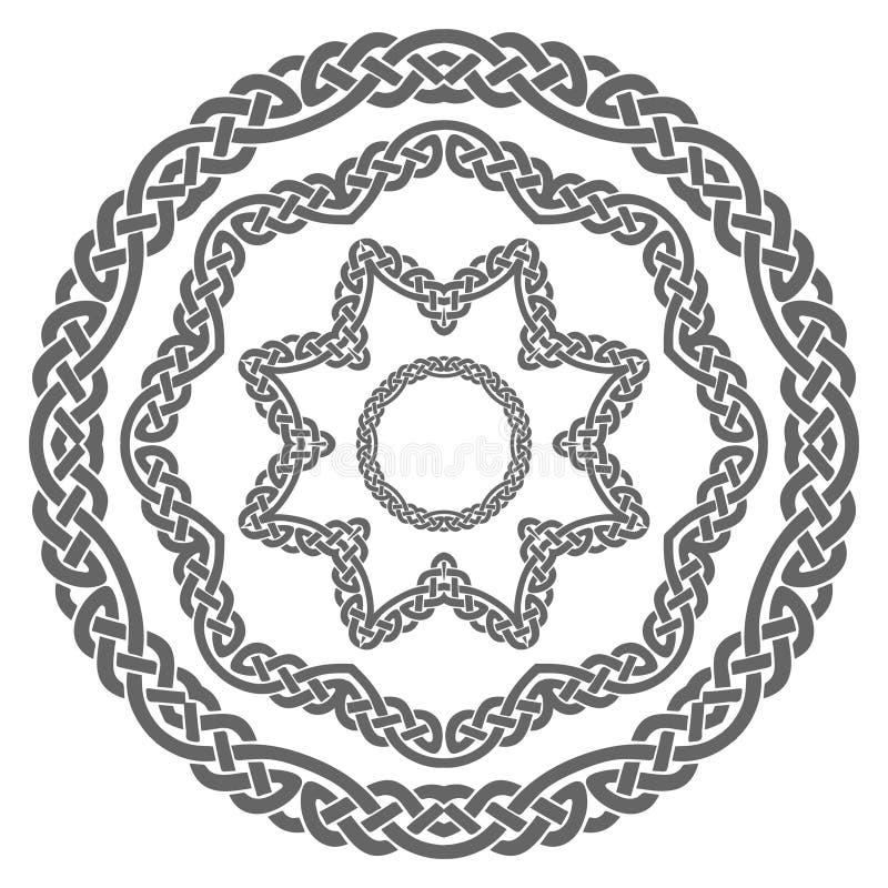 Viking-Muster, 4 Elementverzierungen vektor abbildung
