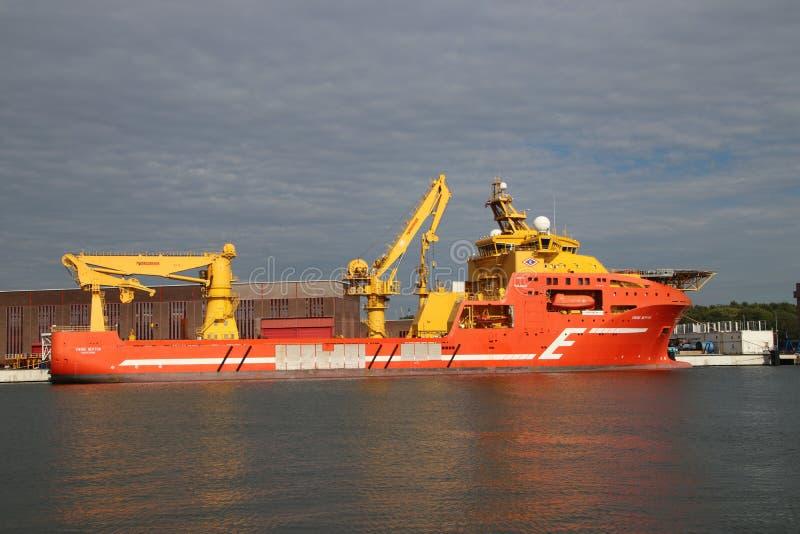 Viking Neptun, una nave de fuente costera noruega en el puerto de RDM de Rotterdam, los Países Bajos fotografía de archivo libre de regalías