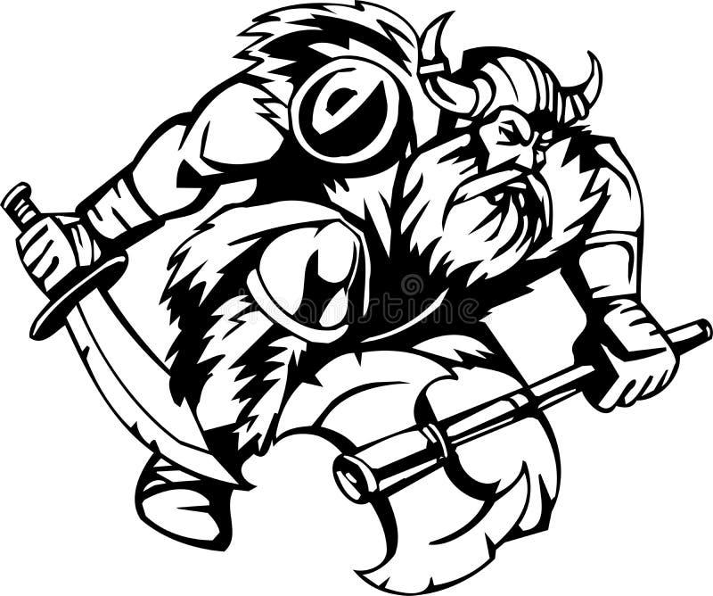 Viking nordique - illustration de vecteur. Vinyle-prêt. illustration libre de droits