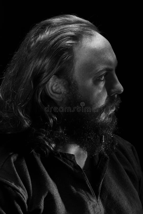 Viking Portrait royaltyfria bilder