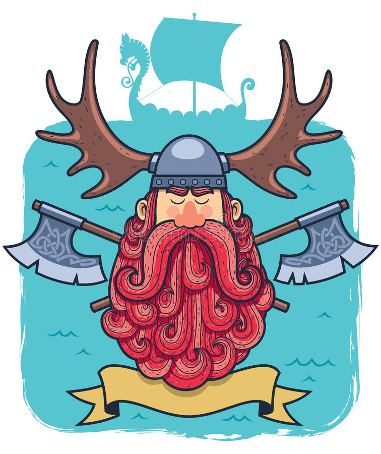 Viking Portrait illustration stock