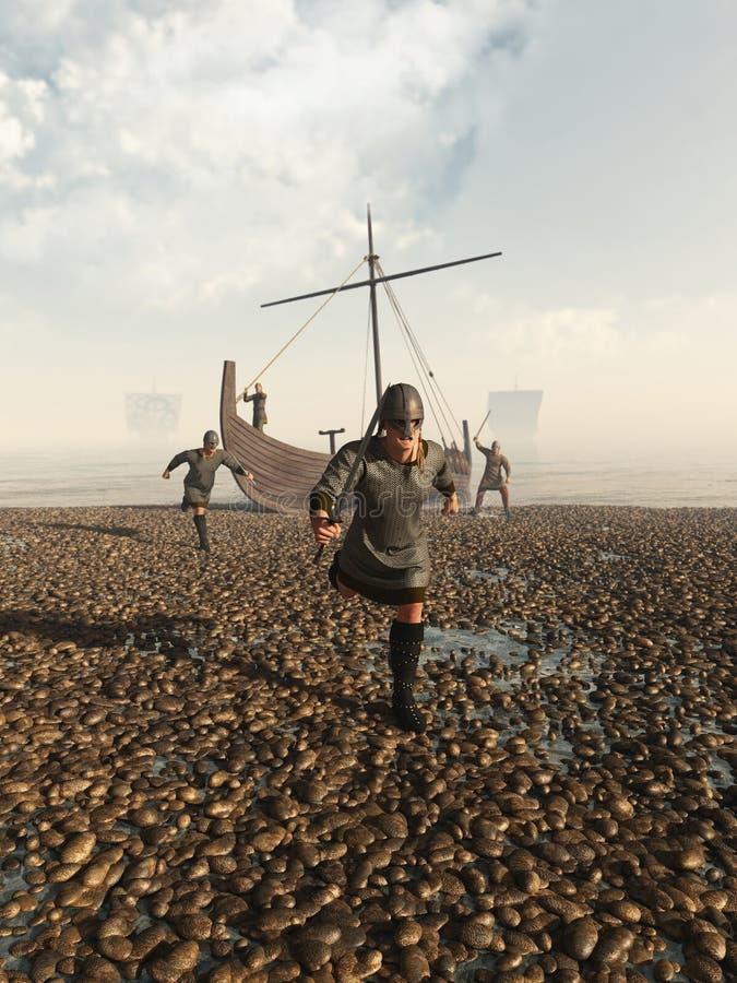Viking Raid ilustração do vetor