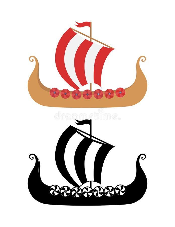 viking s ship drakkar in nordic sea stock vector illustration of rh dreamstime com  viking ship lego