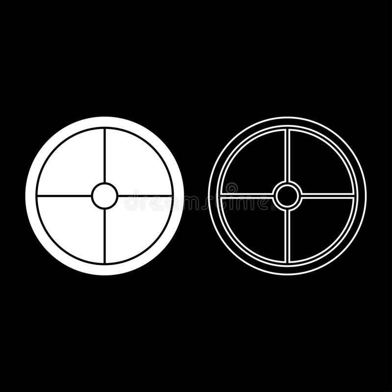 Viking shield icon set white color illustration flat style simple image royalty free illustration