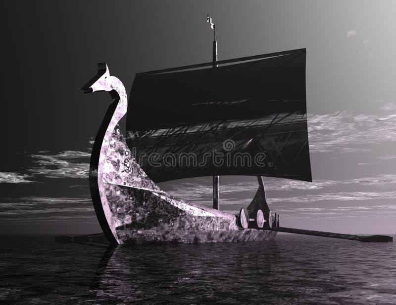 Viking Ship illustrazione vettoriale