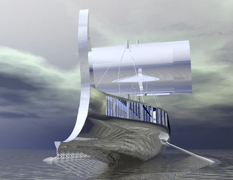 Viking Ship illustration stock