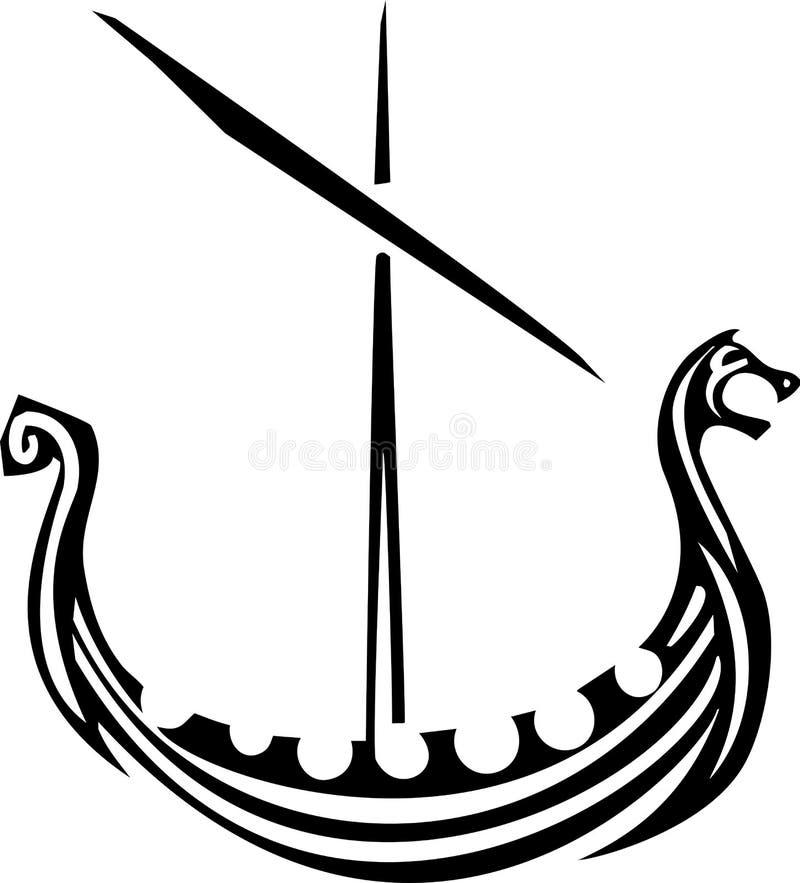 Viking Ship royaltyfri illustrationer