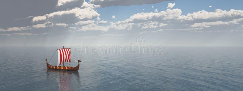 Viking Ship stock illustratie