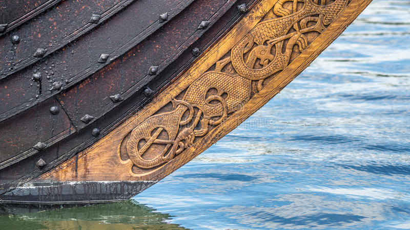 Viking ship bow royalty free stock images