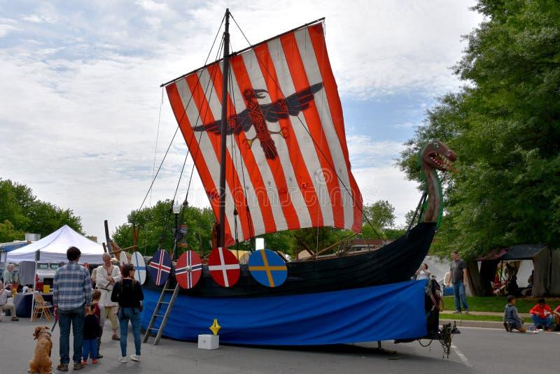 Viking Ship, Manassas Viking Festival imagem de stock royalty free