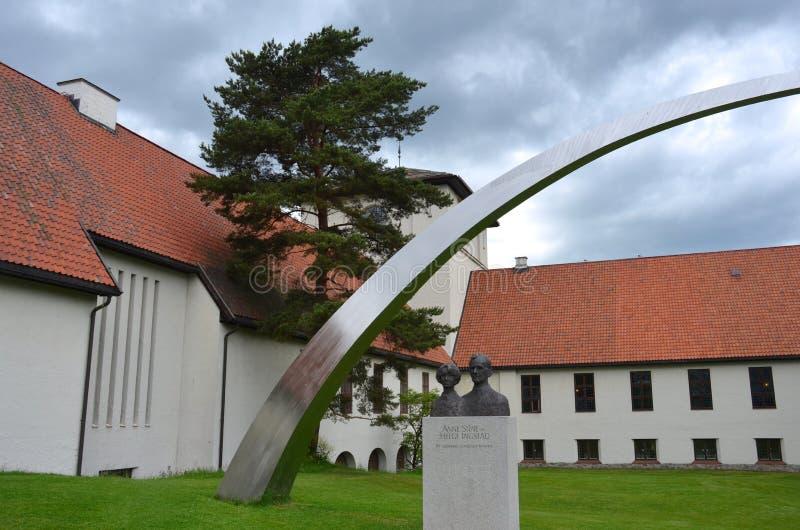 Viking Ship Museum i Oslo fotografering för bildbyråer