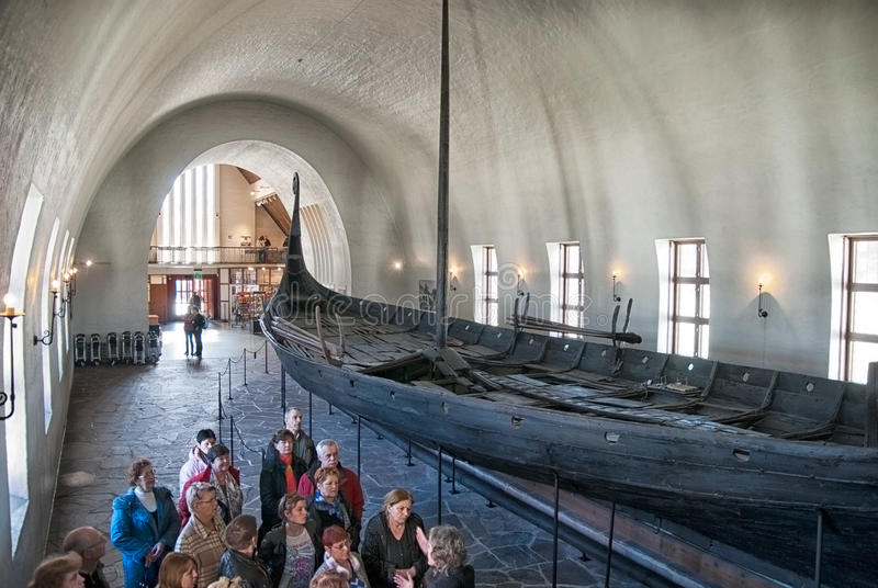 Viking Ship Museum Oslo norway royaltyfri fotografi