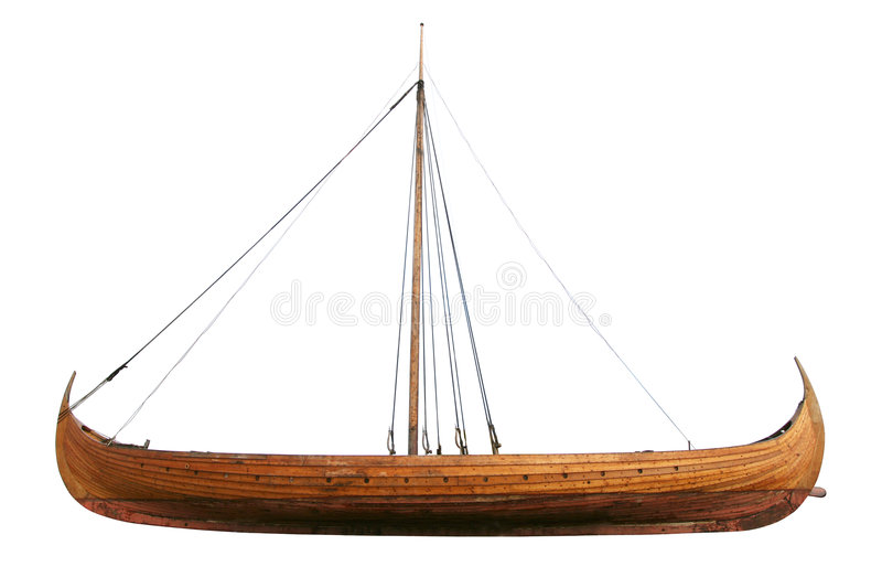 Viking Ship With Path Royalty Free Stock Photography